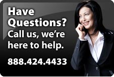 Questions?  Call us today. 888-424-4433